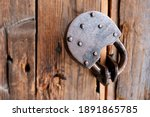 Old Rusty Padlock Close Up On A ...