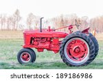 Old Red Farm Tractor
