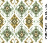 Ethnic ikat chevron pattern background Traditional pattern on the fabric in Indonesia and other Asian countries.
