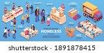 volunteers isometric... | Shutterstock .eps vector #1891878415