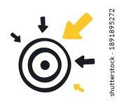hit the goal  achievement of... | Shutterstock .eps vector #1891895272