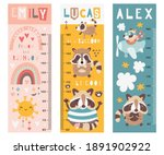 kids height chart with funny... | Shutterstock .eps vector #1891902922