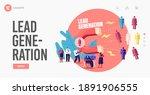 lead generation landing page... | Shutterstock .eps vector #1891906555