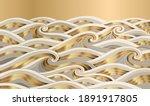luxury gold wave background... | Shutterstock .eps vector #1891917805