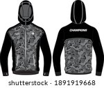 camouflage long sleeve sports... | Shutterstock .eps vector #1891919668