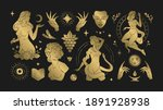 magic woman boho vector... | Shutterstock .eps vector #1891928938