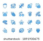 forest berries flat line icons  ... | Shutterstock .eps vector #1891930675