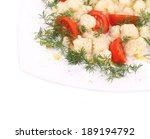cauliflower salad close up.... | Shutterstock . vector #189194792