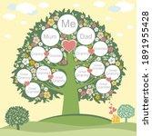 family genealogic tree. parents ...   Shutterstock . vector #1891955428
