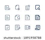 file line icons set. document... | Shutterstock .eps vector #1891958788