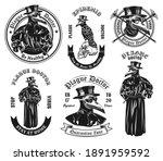 monochrome plague doctor in... | Shutterstock .eps vector #1891959592