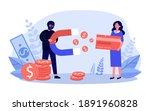 fraud stealing money from... | Shutterstock .eps vector #1891960828