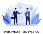 business partners closing... | Shutterstock .eps vector #1891961722