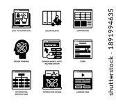 ux ui design icons set glyph... | Shutterstock .eps vector #1891994635