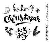 christmas doodle set. christmas ...   Shutterstock .eps vector #1891996162