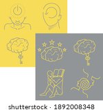 collection of brain icons...   Shutterstock .eps vector #1892008348