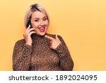 Blonde Plus Size Woman Having...