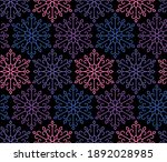 vintage pattern of snowflakes   ... | Shutterstock .eps vector #1892028985