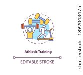Athletic Training Concept Icon. ...