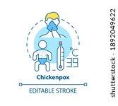 chickenpox concept icon....   Shutterstock .eps vector #1892049622