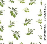 seamless pattern with green... | Shutterstock . vector #1892055178