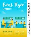 people eating in food court...   Shutterstock .eps vector #1892056225