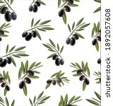 seamless pattern with black... | Shutterstock . vector #1892057608