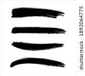 ink black abstract paint stroke ... | Shutterstock .eps vector #1892064775