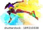 illustration of sports  running | Shutterstock . vector #189210338