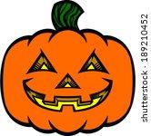 jack o'lantern vector... | Shutterstock .eps vector #189210452