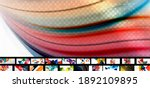 set of vector abstract... | Shutterstock .eps vector #1892109895