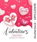 valentine's day sale  gift box... | Shutterstock .eps vector #1892120698