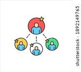 team color line icon....