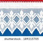lace and linen as a background | Shutterstock . vector #189215705