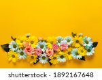 Spring Blossom. Floral Wreath...