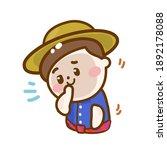 cartoon funny thai farmer vector   Shutterstock .eps vector #1892178088