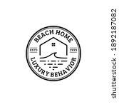 beach house  resort logo design.... | Shutterstock .eps vector #1892187082