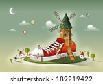 illustration of imagination and ... | Shutterstock . vector #189219422