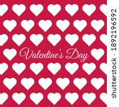 greeting card with white hearts ... | Shutterstock .eps vector #1892196592