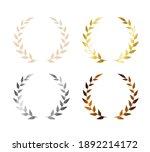 laurel leaf wreath icon set....   Shutterstock .eps vector #1892214172