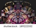 kaleidoscope background   Shutterstock .eps vector #189222332
