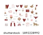 valentine's day   vector cards... | Shutterstock .eps vector #1892228992