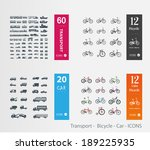 transport    bicycle   car  ... | Shutterstock .eps vector #189225935