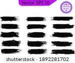 black line  grunge brush... | Shutterstock .eps vector #1892281702