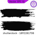 black line  grunge brush... | Shutterstock .eps vector #1892281708