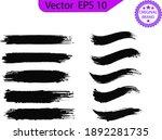 black line  grunge brush... | Shutterstock .eps vector #1892281735