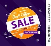 best offer sale banner template ... | Shutterstock .eps vector #1892290588