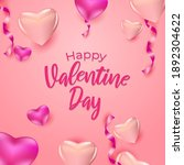 greeting happy valentine day...   Shutterstock .eps vector #1892304622