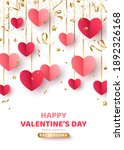 happy saint valentine's day... | Shutterstock .eps vector #1892326168