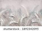 3d Picture Of Palm Leaves On...